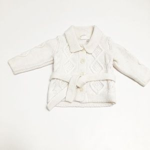 H&M off white knit button up
